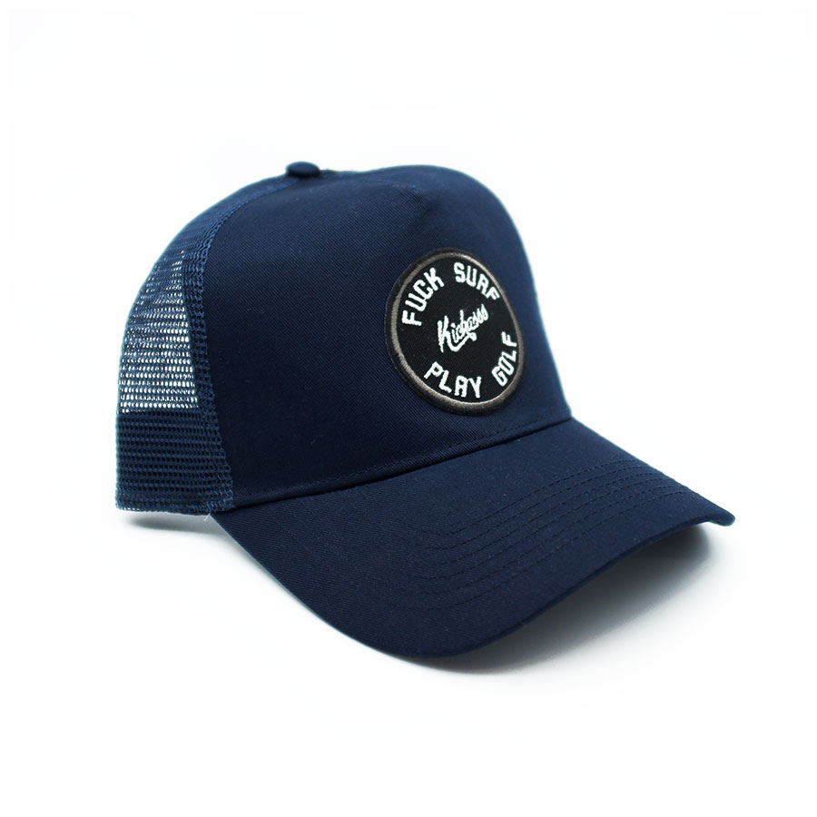 casquette fuck surf play golf trucker navy