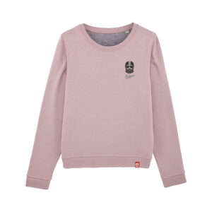 sweat col rond pour femme Kickasss Driver broderie lilac