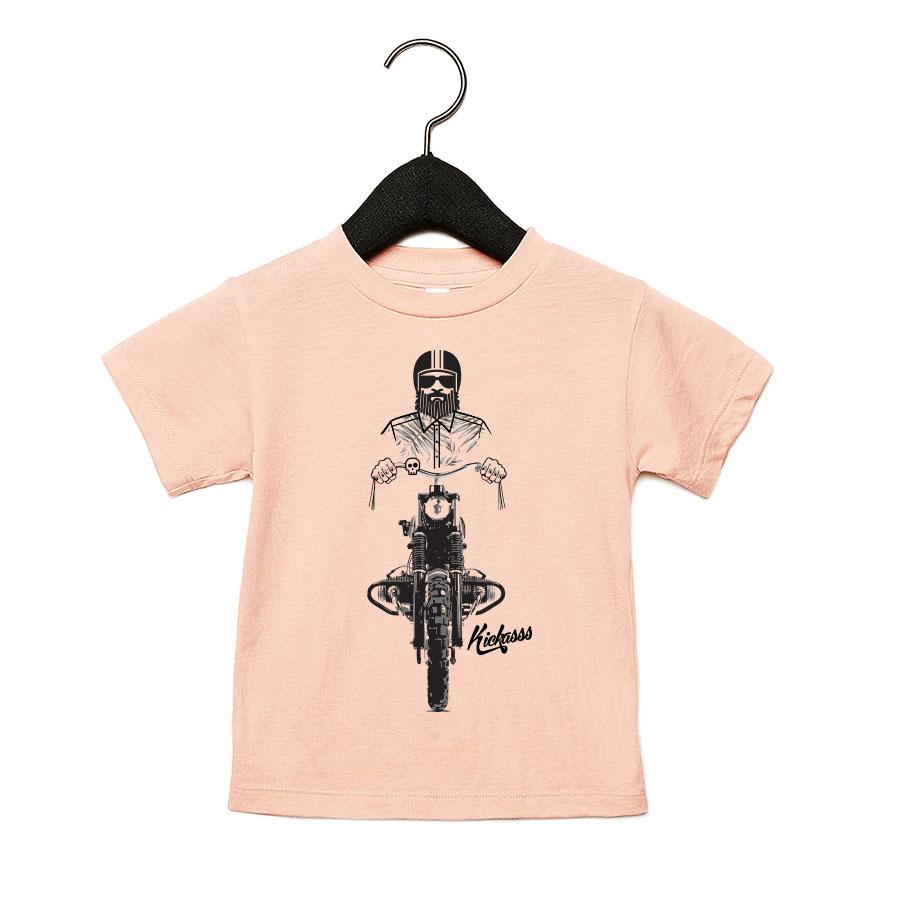 T-shirt bébé moto Driver 19 Kickasss (peach)