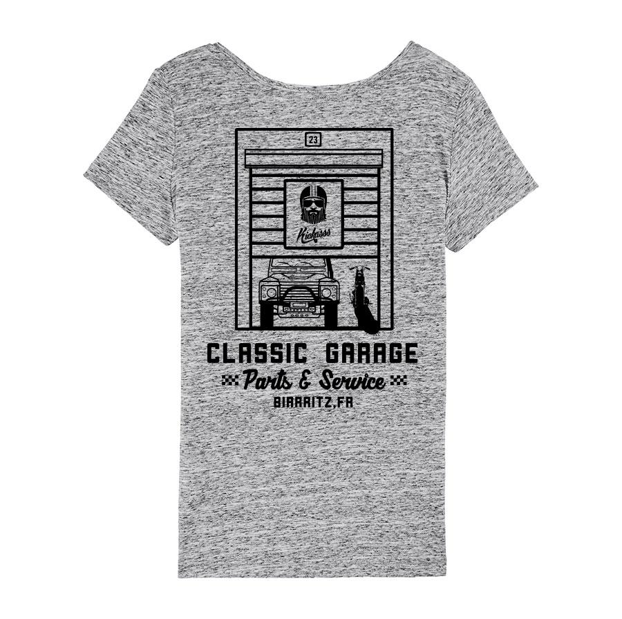 tshirt kickasss classic garage 19 pour femme