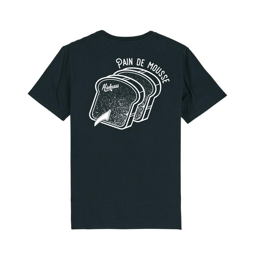 T-shirt numéroté en coton bio Kickasss Pain de Mousse (black)