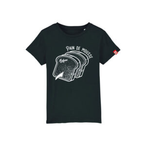 T-shirt enfant Kickasss Pain de Mousse (black)