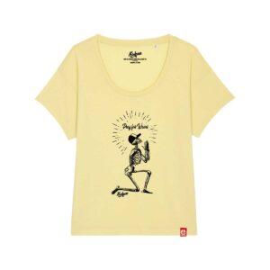 T-shirt pour femme Kickasss Pray for Waves (yellow mist)