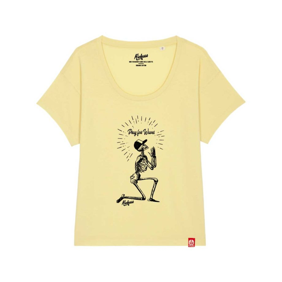 T-shirt pour femme Kickasss Pray for Waves (yellow mist)