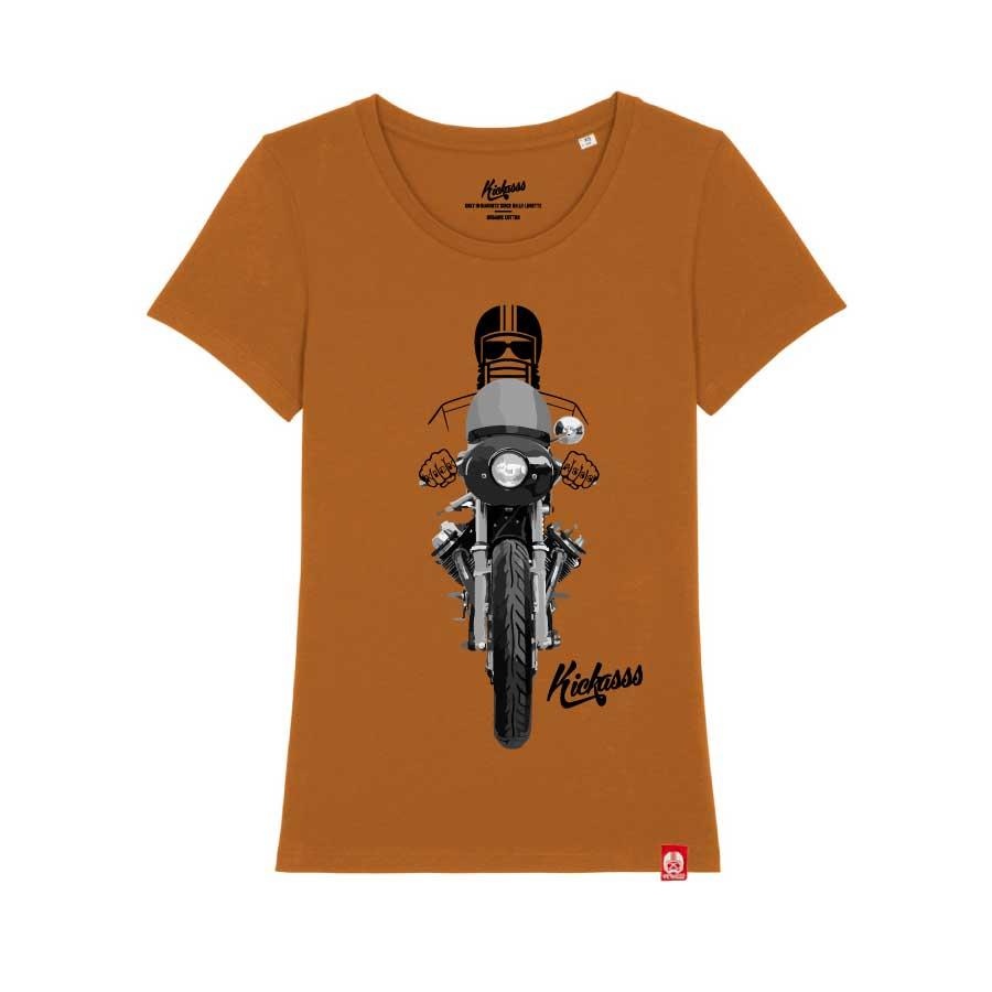 T-shirt numéroté Kickasss Driver 20 pour femme (Roasted Orange)