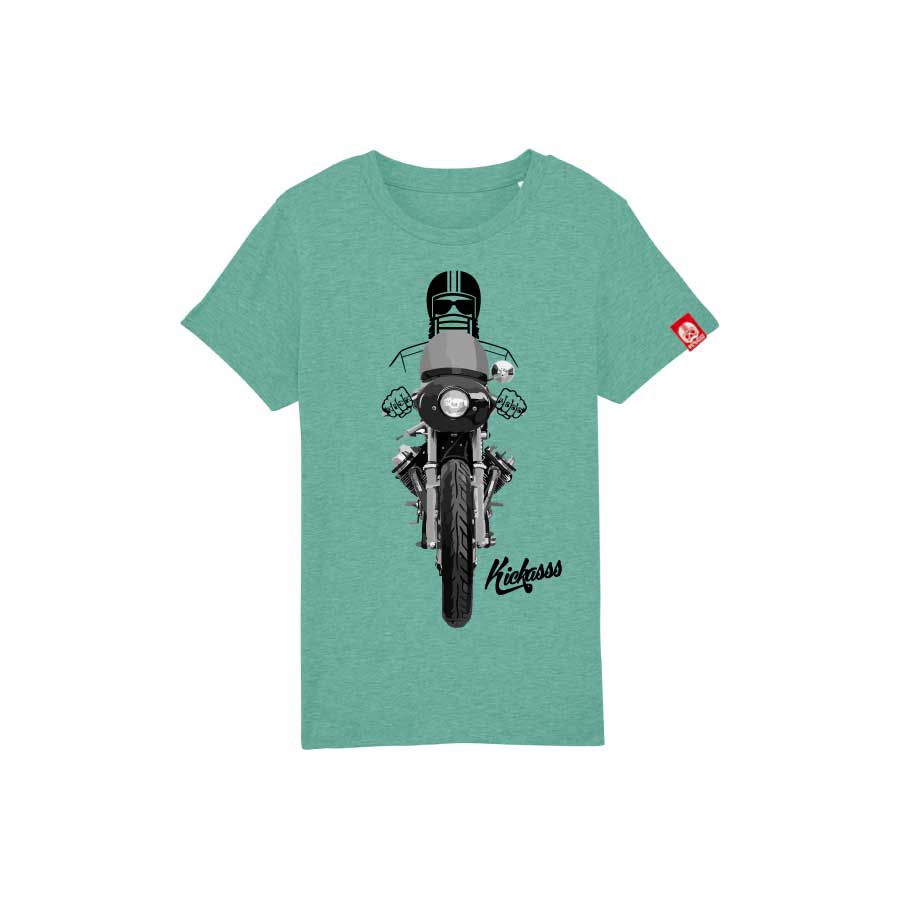 T-shirt enfant Kickasss Driver 20 (mid heather green)