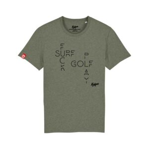 T-shirt Kickasss Fuck Surf Play Golf (heather kaki)