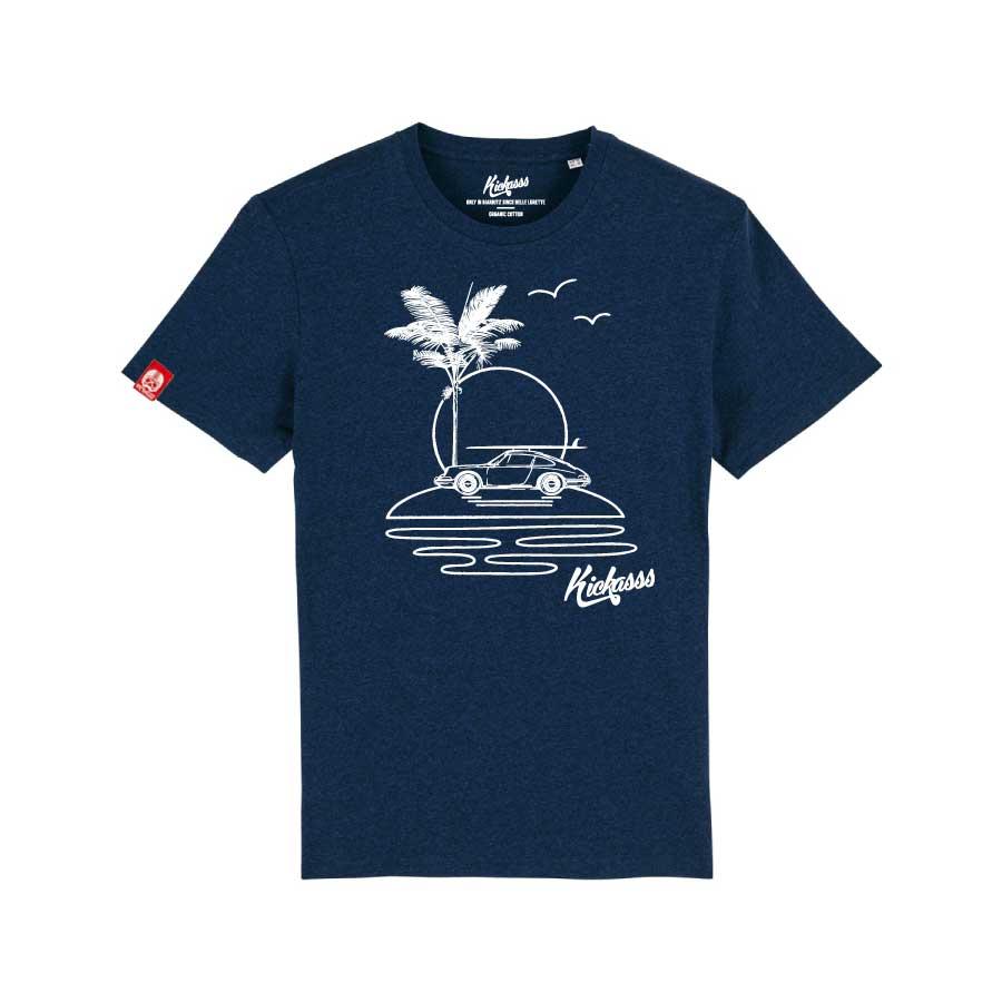 T-shirt numéroté en coton bio Kickasss All I Need (black heather blue)