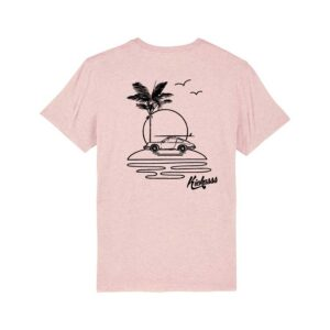 T-shirt numéroté en coton bio Kickasss All I Need (cream heather pink)