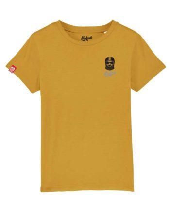 T-shirt brodé Kickasss Driver (ocre)
