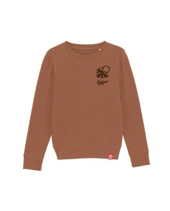 Sweat shirt brodé pour enfant Kickasss Gaston le racoon