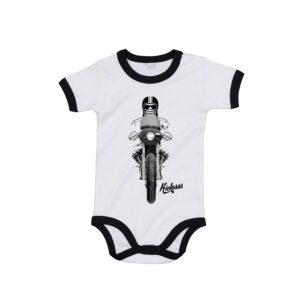 Body manches courtes bébé Kickasss moto Driver 20 (white / black)