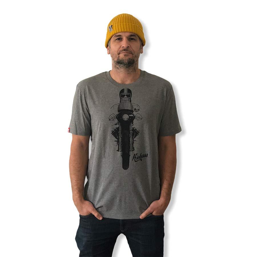 T-shirt numéroté Kickasss moto Driver 20 (mid heather grey)